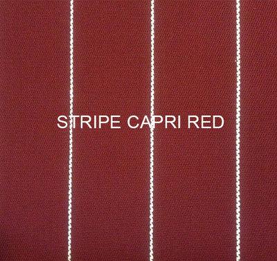 Stof Stripe Capri red