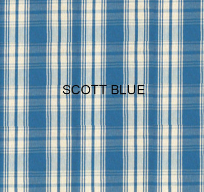 Stof Scott Blue