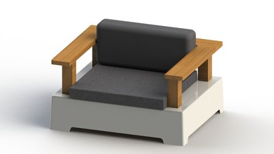 """Roy"" Lounge Love Seat Module - Small"