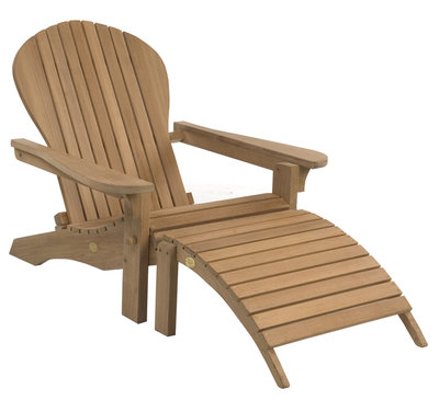 Adirondack Lounger met footstool  (showroommodel)