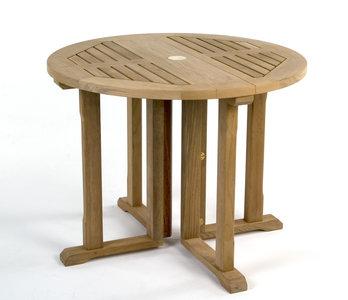 ronde houten tuintafel inklapbaar