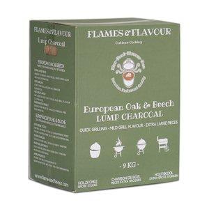Flames & Flavour Europees Eiken & Beuken Restaurant Houtskool 9KG
